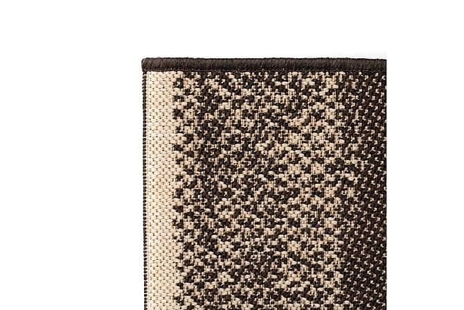 Matta sisallook inomhus/utomhus ränder 80x150 cm - Brun|Beige - Möbler & Inredning - Mattor