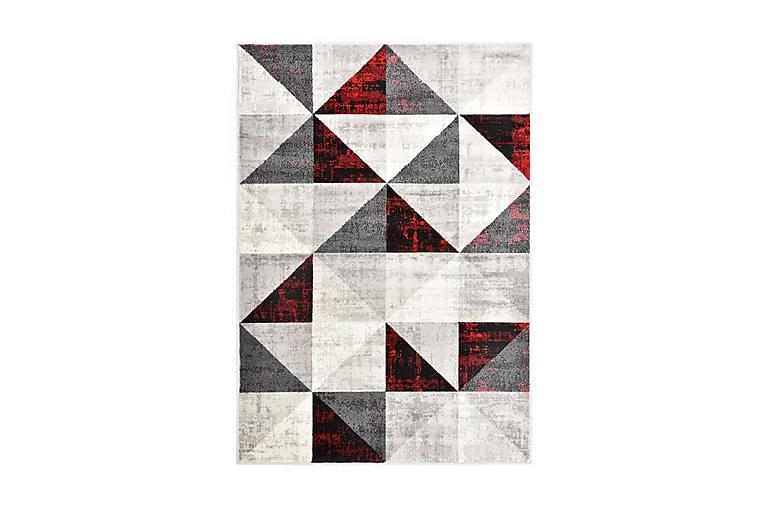 Matta svart och röd 140x200 cm PP - Svart - Möbler & Inredning - Mattor