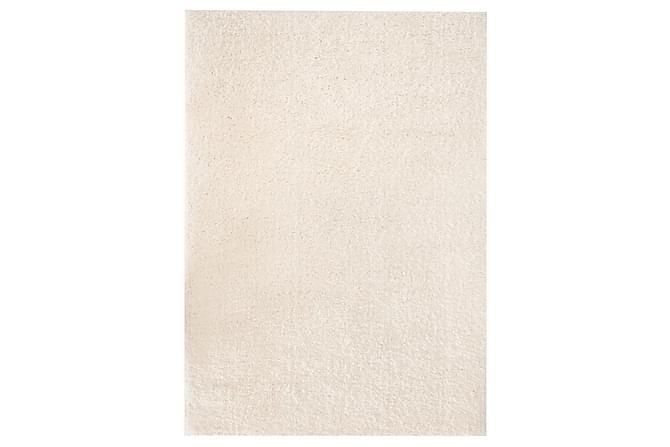 Shaggy-matta 160x230 cm gräddvit - Gräddvit - Möbler & Inredning - Mattor
