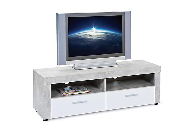 BETON TV-bänk 134 Grå/Vit - Möbler & Inredning - Mediamöbler - Tv-bänkar