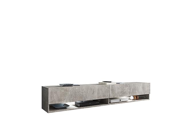 Bunium TV-bänk 180x32x30 cm - Beige|Grå - Möbler & Inredning - Mediamöbler - Tv-bänkar