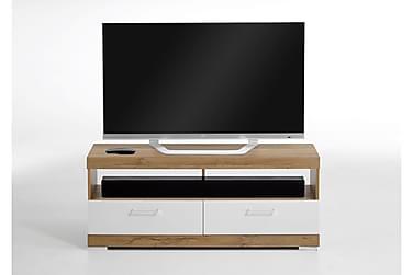 CAJA TV-bänk 120 Vit/Ek