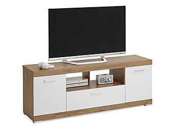 CAJA TV-bänk 160 Vit/Ek