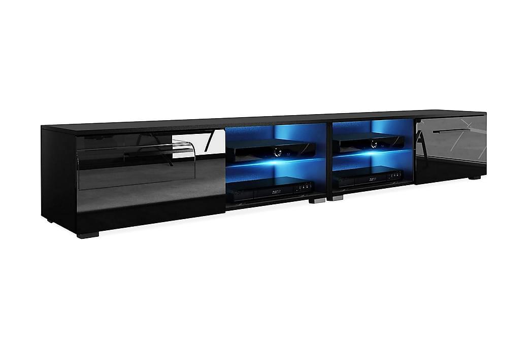 CALUM TV-bänk 200 LED-belysning Svart - Möbler & Inredning - Mediamöbler - Tv-bänkar