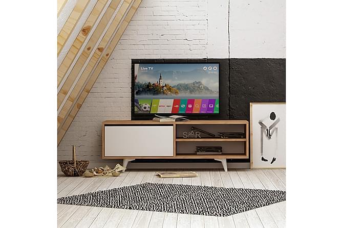 ELLINA Mediaförvaring Trä/Vit - Trä/Vit - Möbler & Inredning - Mediamöbler - Tv-bänkar