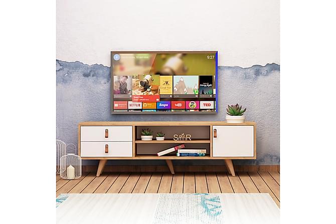 ELLINA Tv-bänk Trä/Vit - Trä/Vit - Möbler & Inredning - Mediamöbler - Tv-bänkar