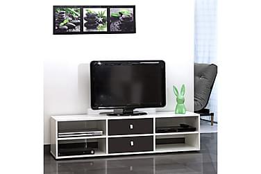 FOLIGNO TV-bänk 149 Vit/Svart