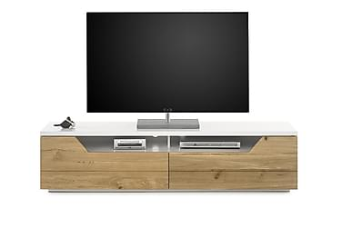 MACARTHU TV-bänk 180 Vit/Trä/Natur