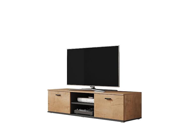 NORREDINGE TV-bänk Ek/Svart - Möbler & Inredning - Mediamöbler - Tv-bänkar