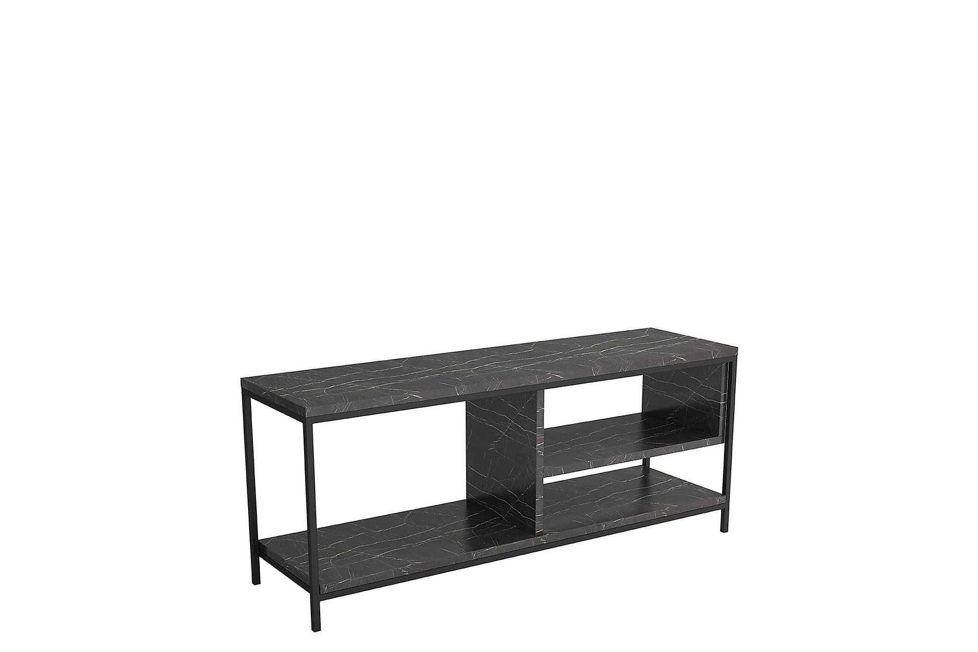 Norrotez tv-bänk marmor/svart