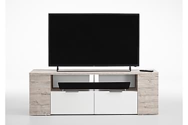 PAMILLA TV-bänk 150 Vit/Ljus Ek