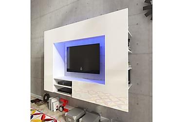 PAUSIDE TV-möbelset 169 med LED Vit Högglans
