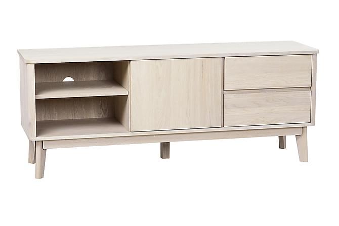 REFRESH TV-bänk 152 Vitpigmenterad Ek - Möbler & Inredning - Mediamöbler - Tv-bänkar