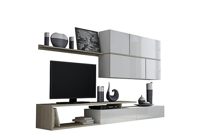 SABRA TV-bänk Ek/Vit - Ek/Vit - Möbler & Inredning - Mediamöbler - Tv-bänkar