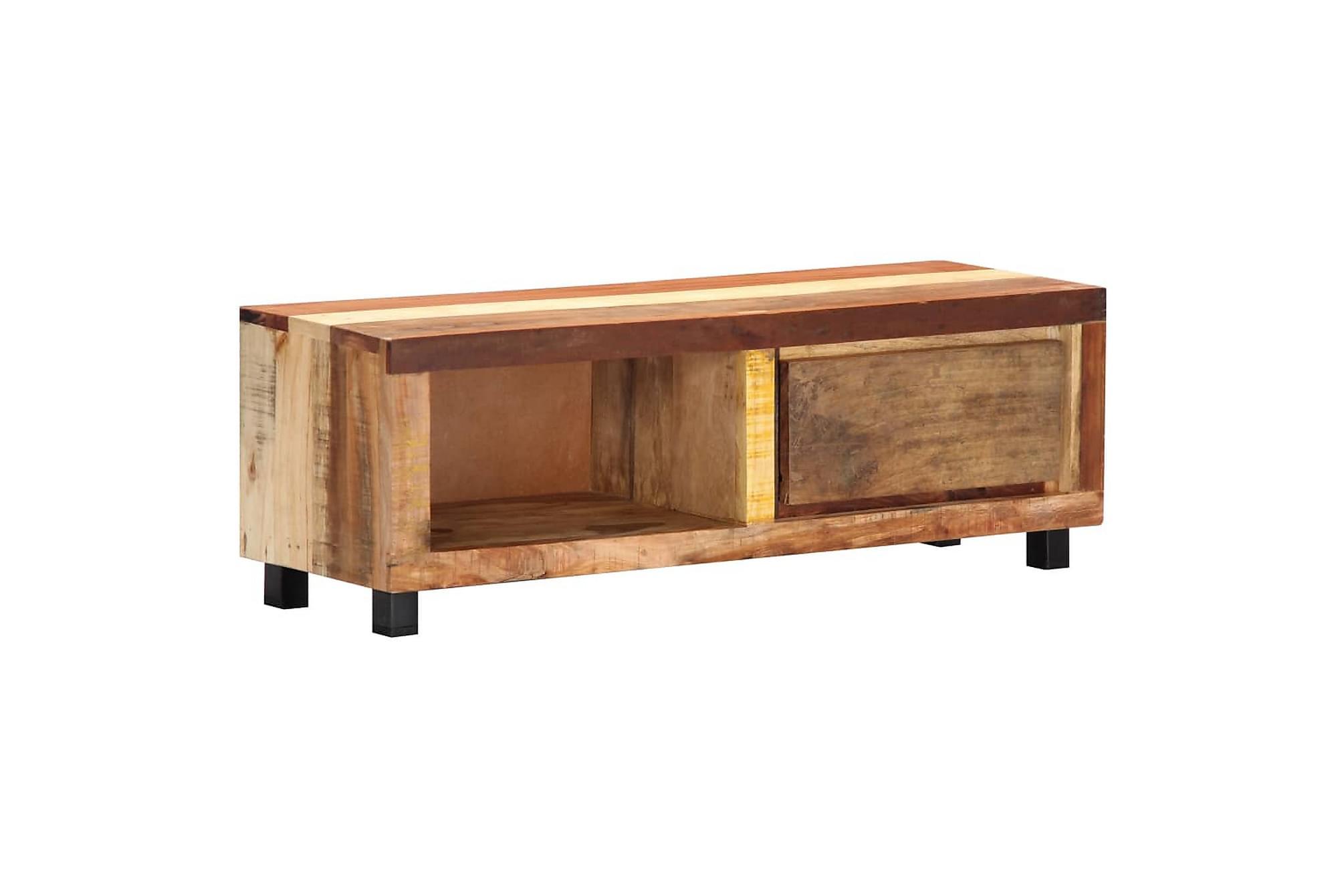 TV-bänk 100x30x33 cm massivt återvunnet trä
