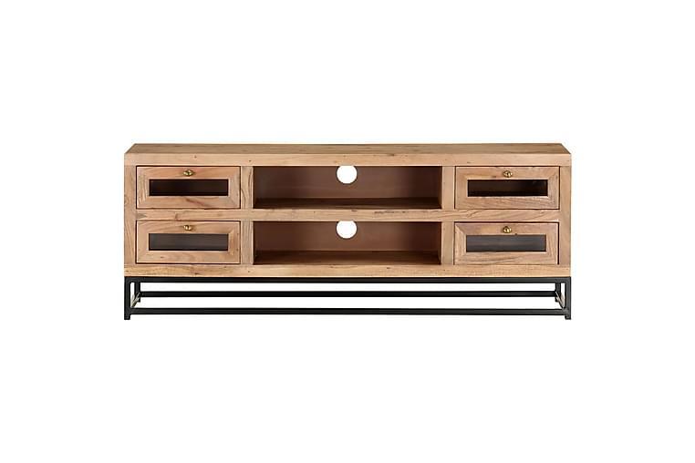 TV-bänk 110x30x40 cm massiv akacia - Brun - Möbler & Inredning - Mediamöbler - Tv-bänkar