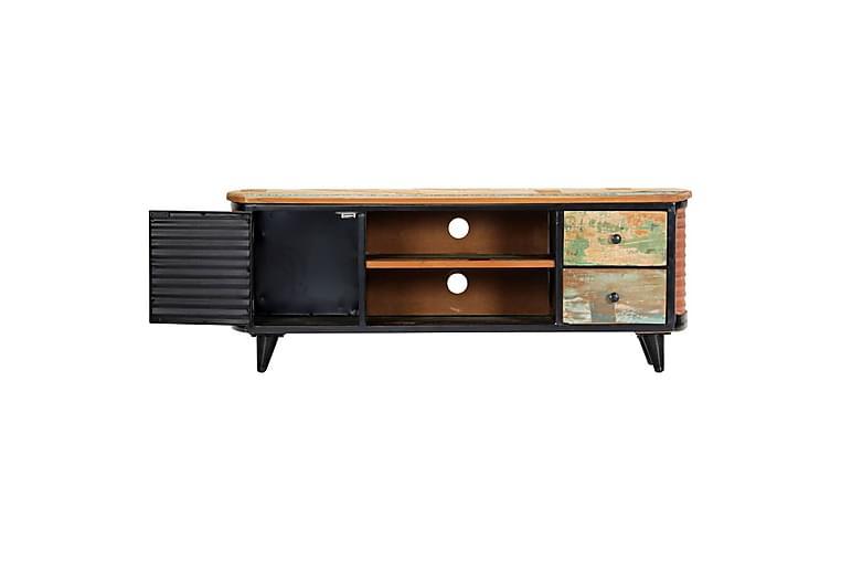 TV-bänk 120x30x45 cm massivt återvunnet trä - Brun - Möbler & Inredning - Mediamöbler - Tv-bänkar