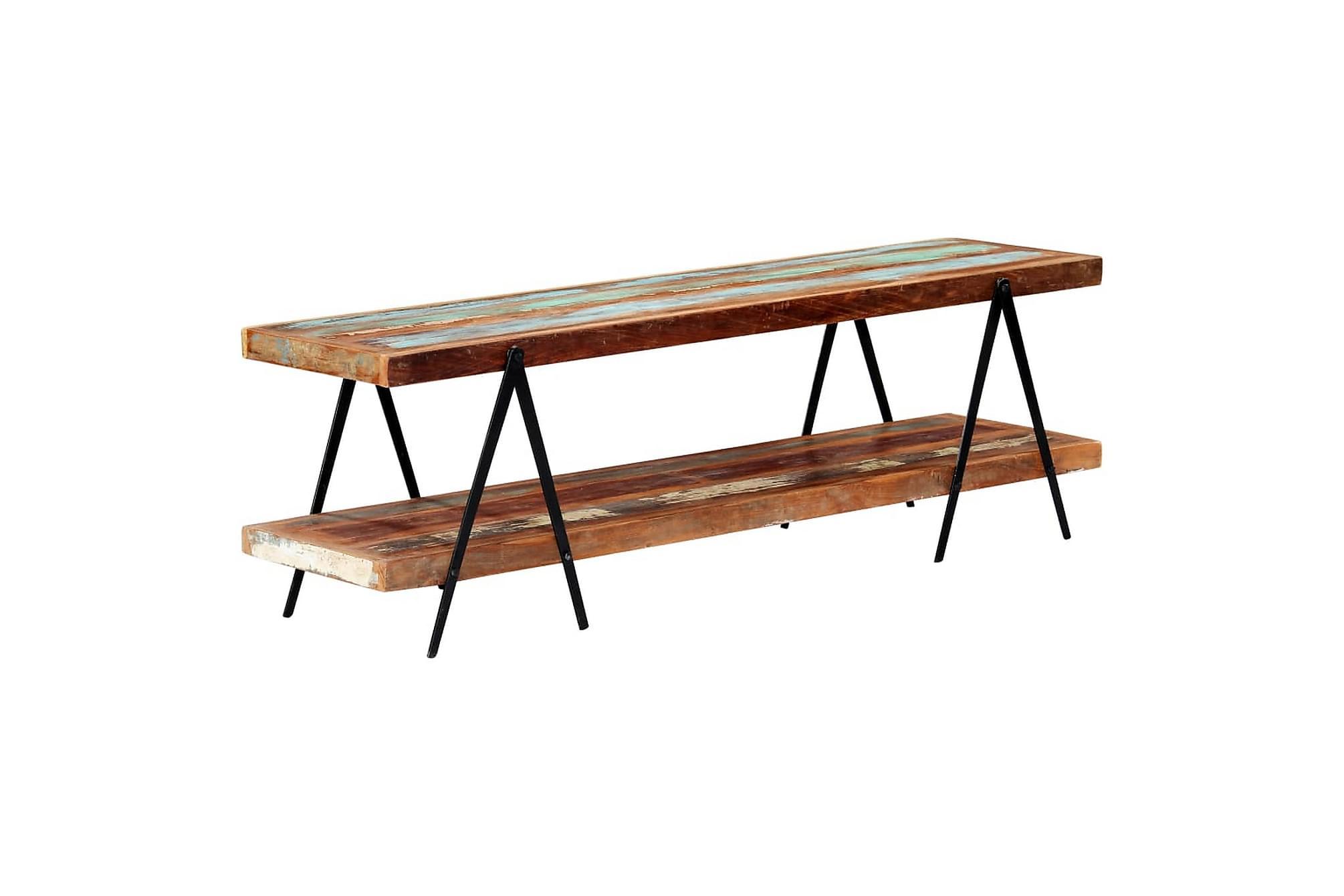 TV-bänk 160x40x50 cm massivt återvunnet trä