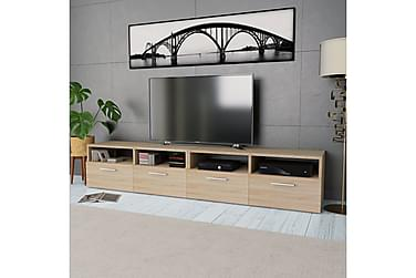 TV-bänk 2 st spånskiva 95x35x36 cm ek