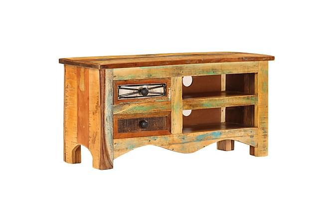 TV-bänk 80x30x40 cm massivt återvunnet trä - Brun - Möbler & Inredning - Mediamöbler - Tv-bänkar