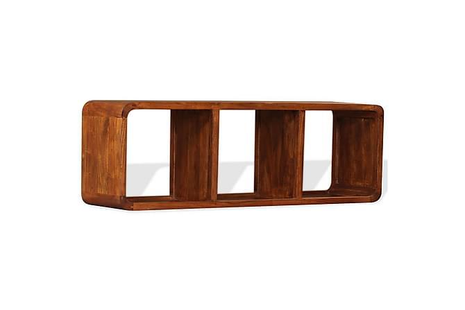 TV-bänk i massivt trä med sheesham-ytbehandling 120x30x40 cm - Inomhus - Mediamöbler - Tv-bänkar