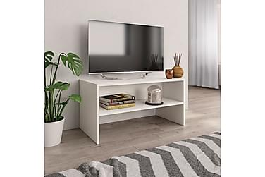 TV-bänk vit 80x40x40 cm spånskiva