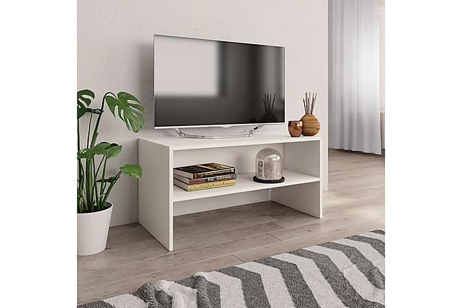 TV-bänk vit 80x40x40 cm spånskiva - Vit - Möbler & Inredning - Mediamöbler - Tv-bänkar