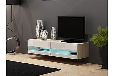 WILBER TV-bänk + LED 180 Vit/Ek