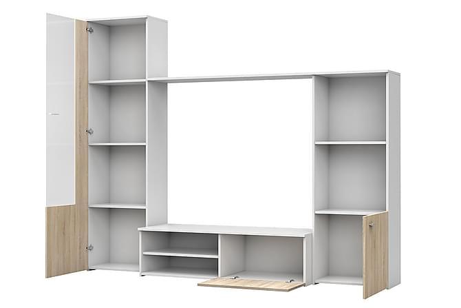 Hugo TV-möbelset 220x41x179 cm - Grå|Vit - Möbler & Inredning - Mediamöbler - Tv-möbelset
