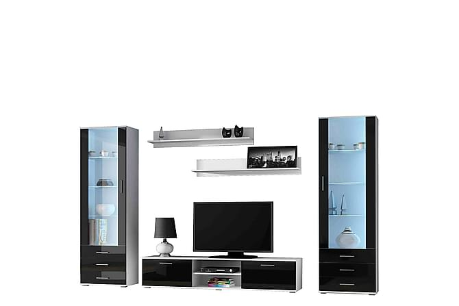 Soho TV-möbelset - Svart Vit - Möbler & Inredning - Mediamöbler - Tv-möbelset