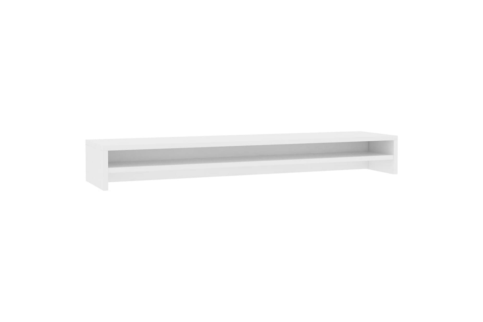 Skärmställ vit 100x24x13 cm spånskiva, Tv-väggfästen