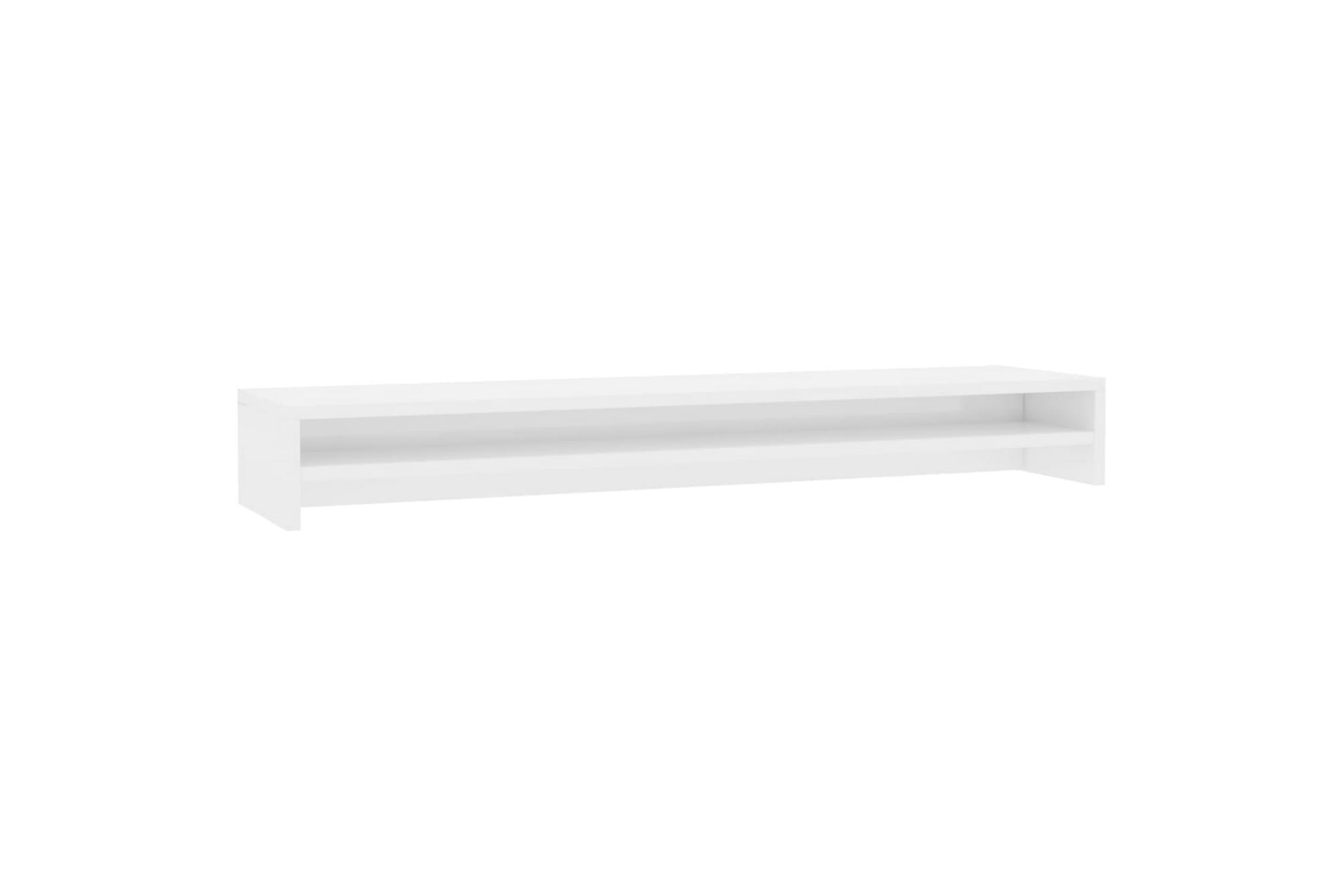 Skärmställ vit högglans 100x24x13 cm spånskiva, Tv-väggfästen