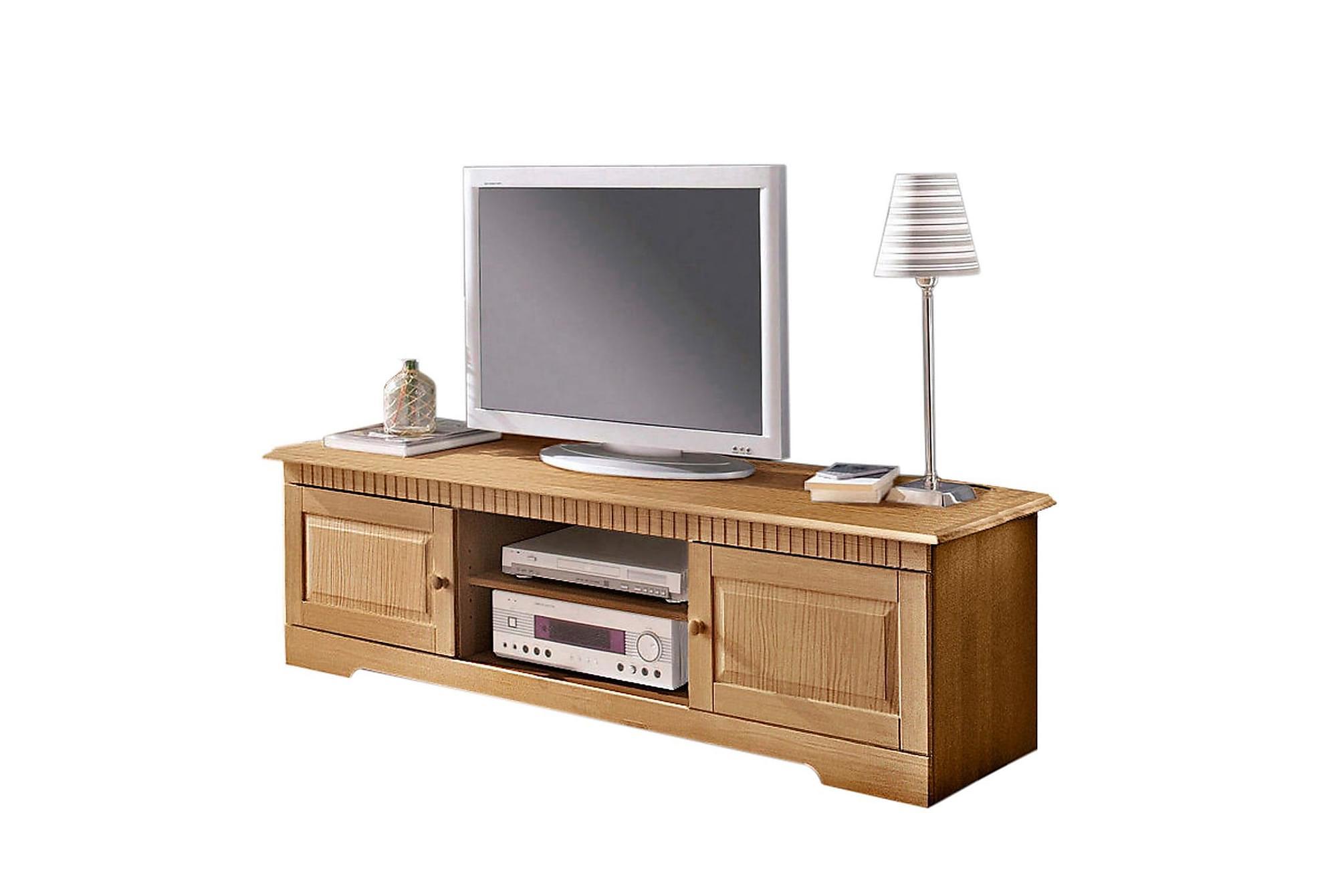 CASTORA TV-bänk 160x45 Brun, Mediamöbler