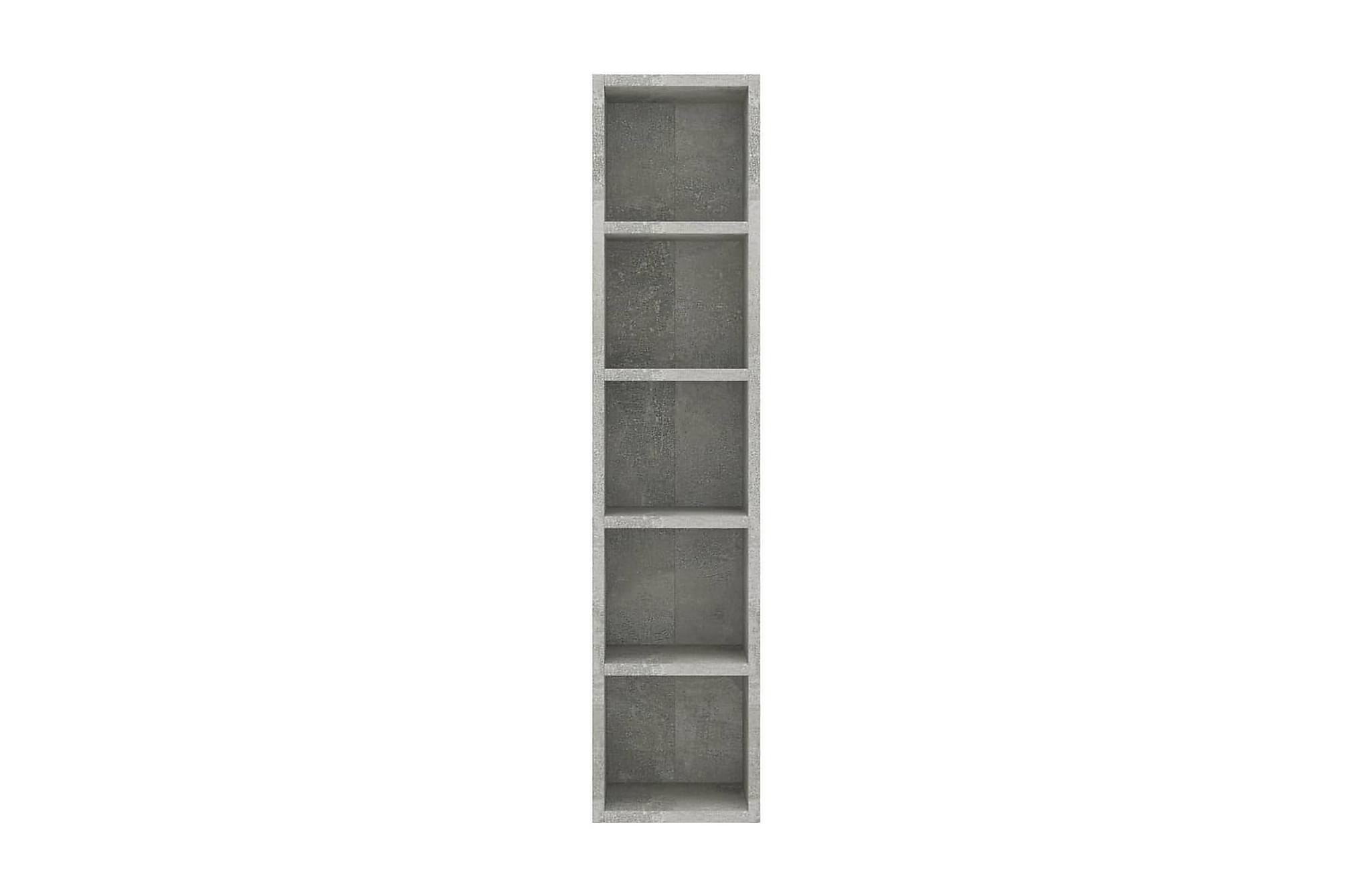 CD-hylla betonggrå 21x16x93,5 cm spånskiva, Mediamöbler