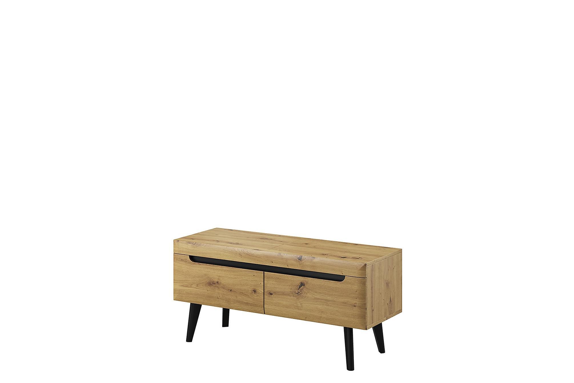 NORDI TV-bänk 40x107 cm Ek/Svart