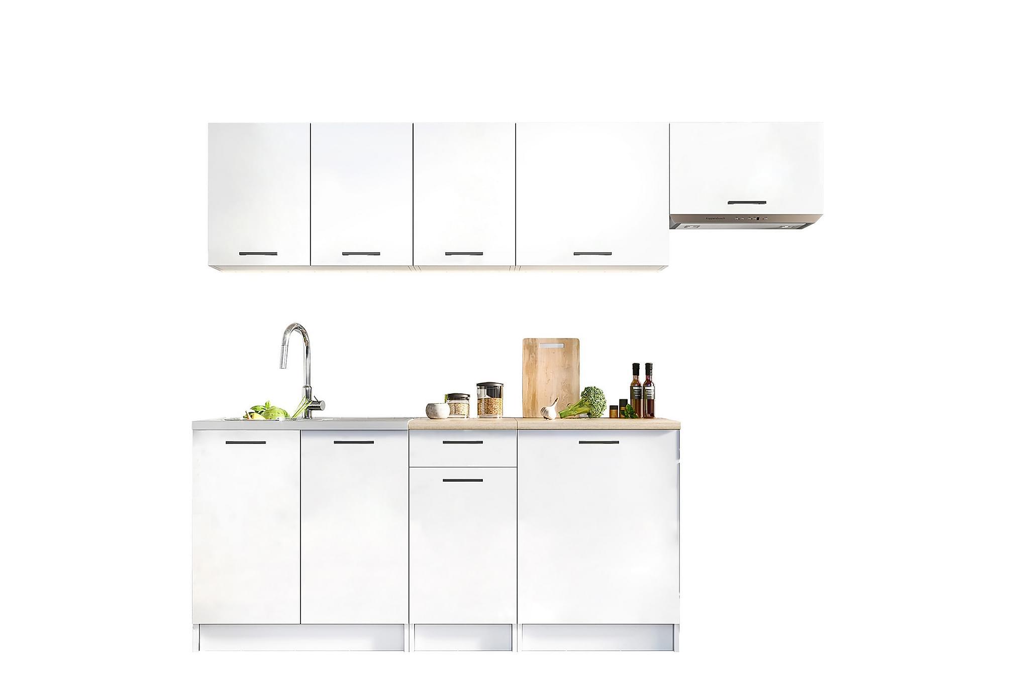 AOUDE Köksmöbelset med Bänksskiva Vit, Möbelset för kök & matplats