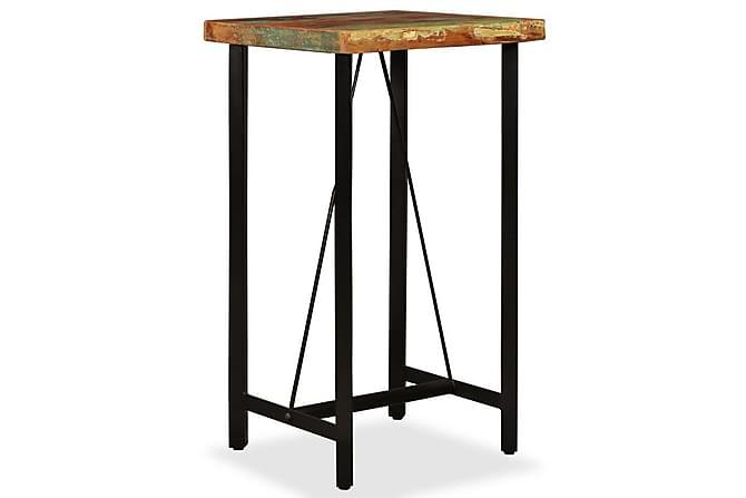 Barmöbler 3 delar återvunnet trä, äkta läder & kanvas - Brun - Möbler & Inredning - Möbelset - Möbelset för kök & matplats