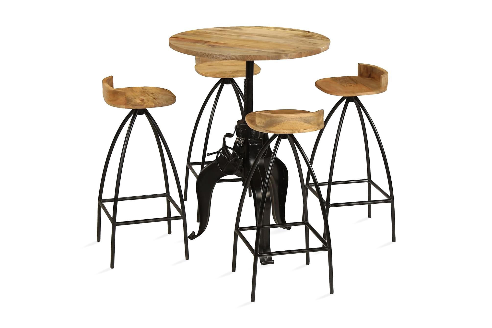 Barmöbler 5 delar massivt mangoträ, Möbelset för kök & matplats