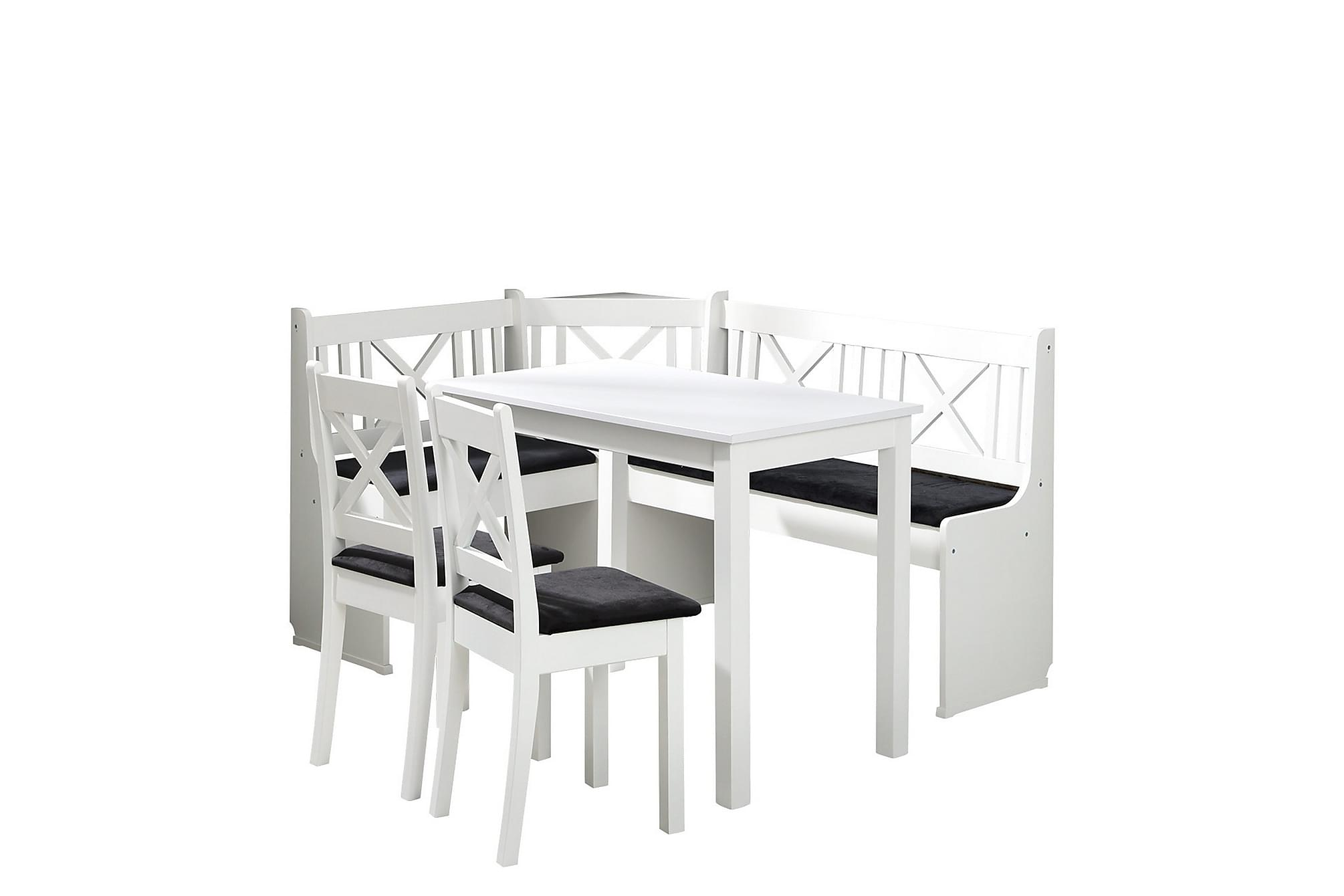 KLEBE Matgrupp Vit/Svart, Möbelset för kök & matplats