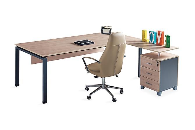 BENCK Kontorsmöbelset 190 cm Valnöt/Mörkgrå - Möbler & Inredning - Möbelset - Möbelset för kontor