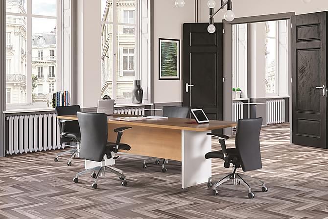 JAESYN Konferensbord 240 cm Valnöt/Vit - Möbler & Inredning - Möbelset - Möbelset för kontor