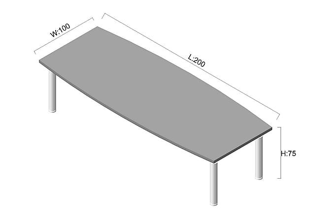 NIM Konferensbord 200 cm Valnöt/Grå - Möbler & Inredning - Möbelset - Möbelset för kontor