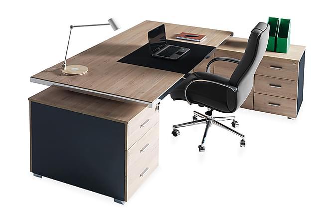 SCHLOFF Kontorsmöbelset 210 cm Valnöt/Svart - Möbler & Inredning - Möbelset - Möbelset för kontor