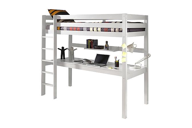 PERSIKA Loftsäng Skrivbord Förvaring Vit - Möbler & Inredning - Möbelset - Möbelset för sovrum