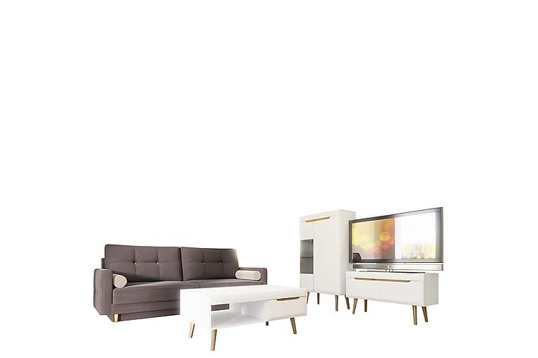 Nordi Bäddsoffa & Vardagsrumsset - Grå/Vit - Möbler & Inredning - Möbelset - Möbelset för vardagsrum