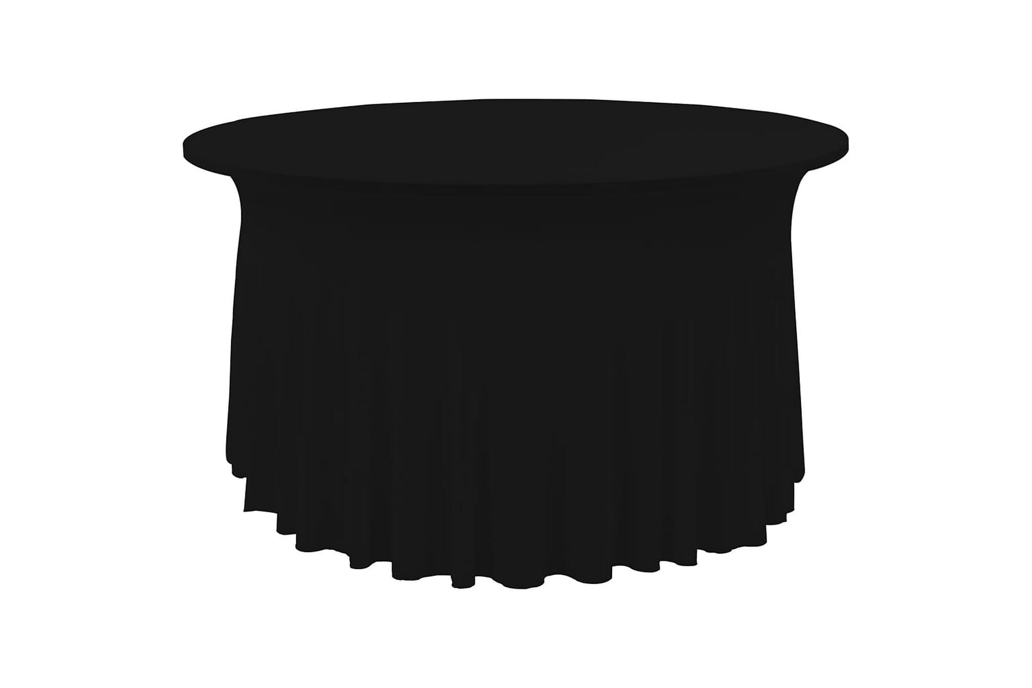Bordsöverdrag 2 st stretch golvlångt svart 120×74 cm