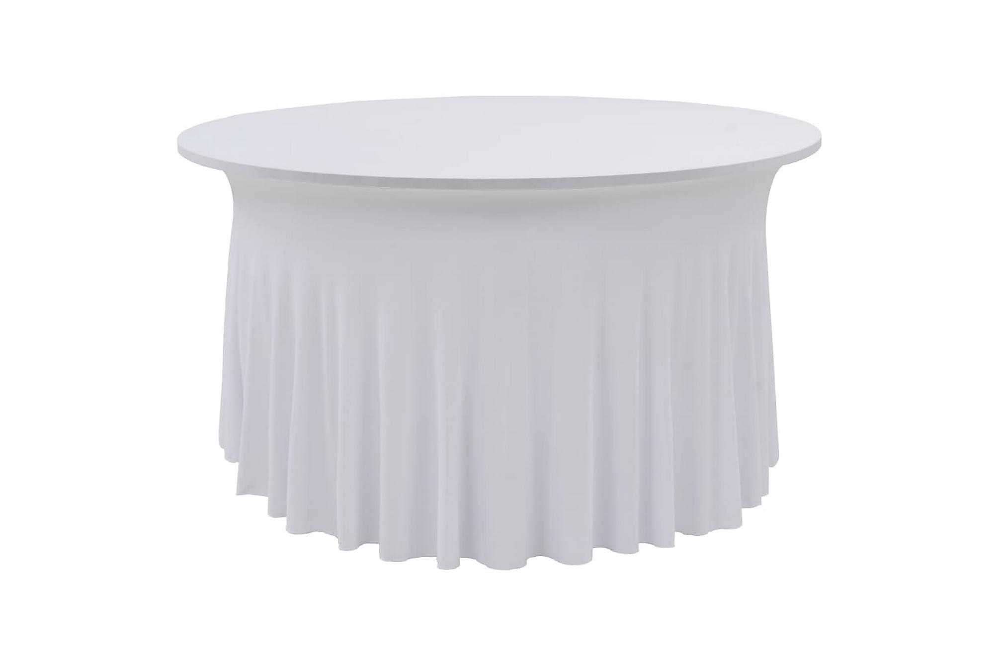 Bordsöverdrag 2 st stretch golvlångt vit 180x74 cm, Möbelöverdrag