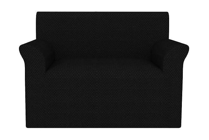 Sofföverdrag piké stretch svart - Svart - Möbler & Inredning - Möbelvård - Möbelöverdrag