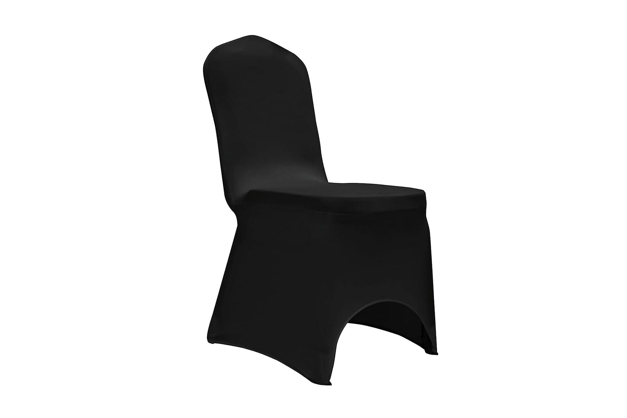 Stolsöverdrag stretch 12 st svart