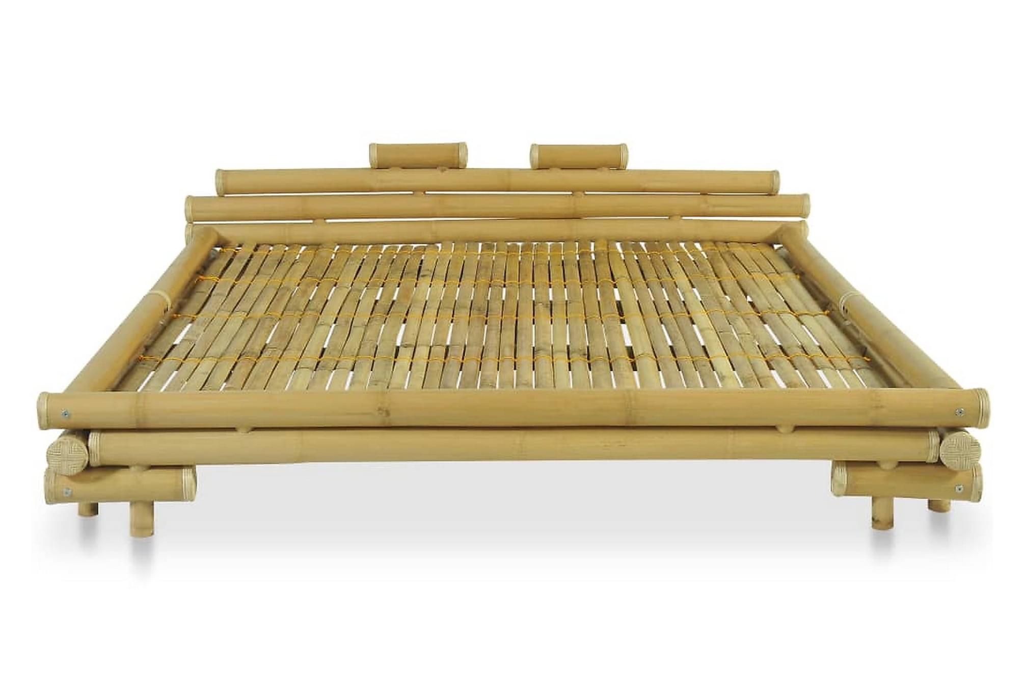 Bambusäng 180×200 cm naturlig